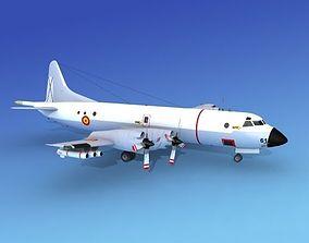 3D Lockheed P-3 Orion Spain