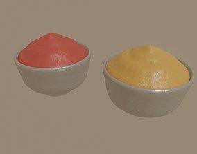 3D asset rigged Bowl of sauce