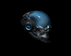 Sci-Fi Helmet h55 droid 3D model