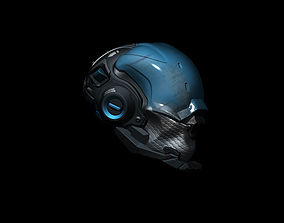 Sci-Fi Helmet h55 3D model