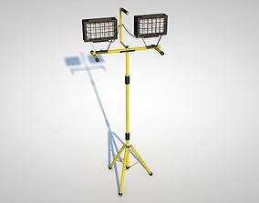3D model yellow Halogen Lamp