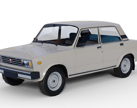 3D asset Lada Riva Low Poly