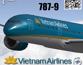 3D model Boeing 787-9 Vietnam airlines livery