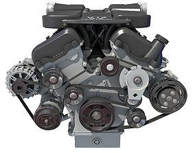V12 Engine with Internal Parts 3D horsepower