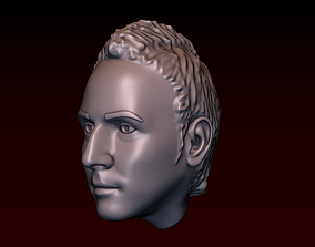 Male head 28 a man with a Iroquois 3D printable model
