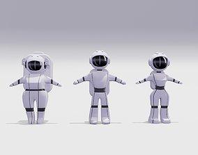 Astronauts Low-Poly 3D model