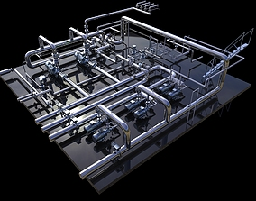 Industrial boiler room 3D