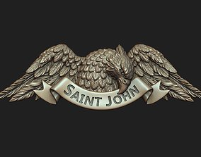 3D print model Saint John the Evangelist Pendant