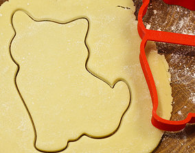 Cat 3 cookie cutter for professional 3D printable model