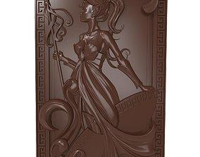 Warrior Girl Bas relief 3D print model
