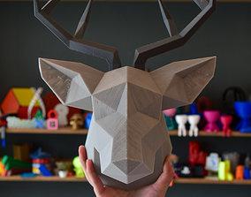 3D printable model Deer Head Low Poly