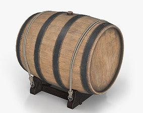 3D asset Lowpoly Water Barrel