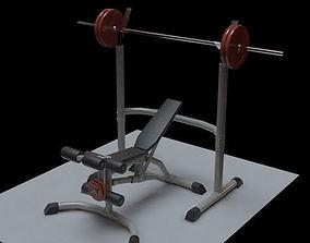 3D asset Powerlifting bench