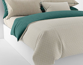 Bedclothes green 3D