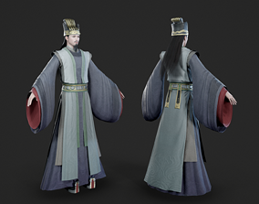 3D model Chinese ancient official prime minister adviser