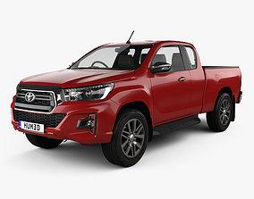 3D Toyota Hilux Extra Cab Raider 2019
