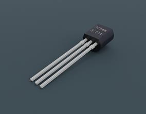 General Purpose NPN Transistor 3D asset
