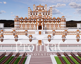indian jharokha palace 3D model animated