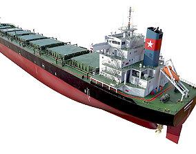 3D model Bulk carrier Black