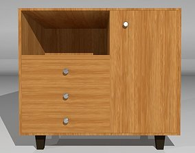 3D asset Traditional Wooden Cabinet