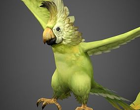 3D model Game Ready Fantasy Parrot