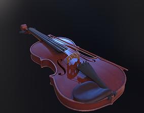 3D model low-poly Violin