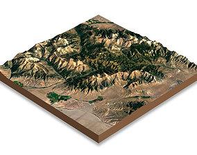 3D asset Mountains terrain