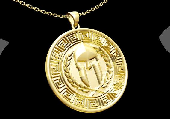 Ancient Greek Pendant jewelry Gold 3D print model 3D print model