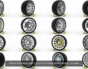 3D model ORTAS CAR WHEEL RIM 71-72-73-74-75 GAME READY