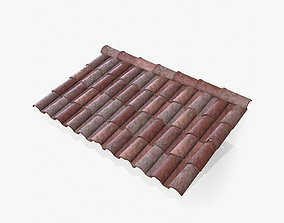 3D model Lowpoly Clay Rooftiles