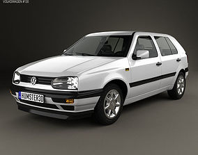 Volkswagen Golf 1993 3D model