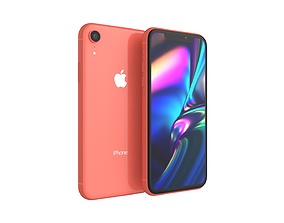 iPhone XR Coral 3D