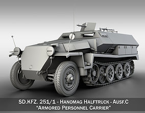 SD KFZ 251 1 - Ausf C - Hanomag Halftruck 3D model