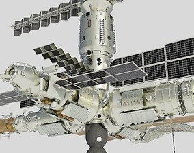 Mir space station 3D model