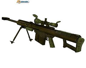 Baretta M82A1 3D Model rigged
