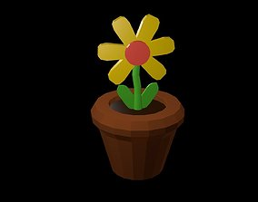 3D asset Low poly Flower with Pot