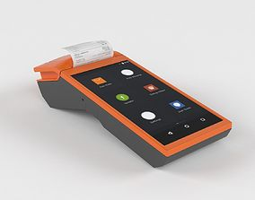 Mobile Android POS terminal MHT-V1 3D model