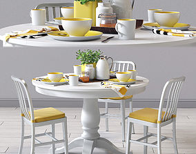 3D Delta Dinning Chair and Avalon Table