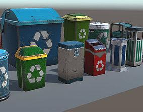 3D asset Trash Can Pack