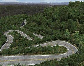 Akagi JAPAN Mountain Downhill 3D asset