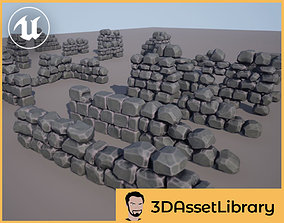3D model Stylized Walls Vol 1 For Unreal