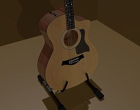 Acoustic Guitar Taylor 114ce With Stand 3D model