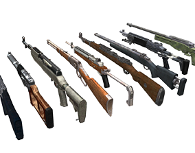 Free Pubg Style Snipers Pack For 3D asset