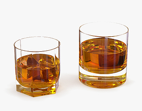 Whiskey Glasses whiskey 3D model