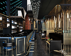 3D Luxury Bar and Cafe Design