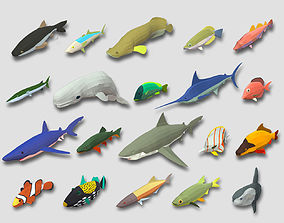 3D model Fish Cartoon Collection Part 01 Animated - Game 1