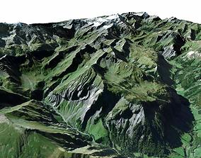 3D staellite Mountain landscape