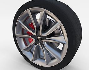 Tesla Model 3 Wheel 3D asset