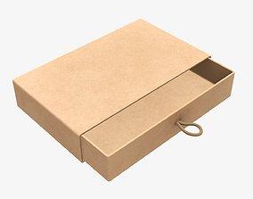 Drawer cardboard gift box 01 3D model
