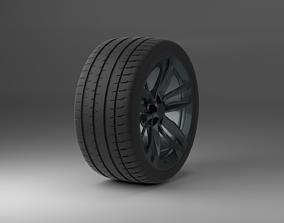 michelin pilot sport 4s 3D model